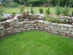 Hochbeet aus Jurasteinen Garten - Trockenmauer - Naturstein - rock wall