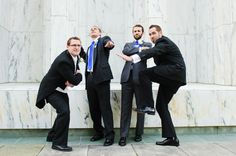 Funny groomsmen pose picture and a funny bridesmaids picture would be cool. with the temple as the back drop.