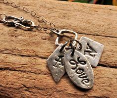 Fine Silver Mothers Jewelry Initial Pendant by salishsilvernsea, $80.00