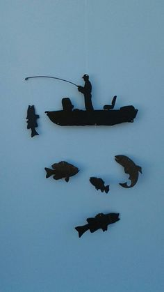 Fisherman with Fishing Pole Mobile by toymakertothekings on Etsy