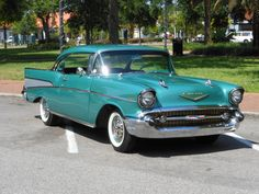 Classic Cars – Old Classic Cars Gallery 1957 Chevy Bel Air, 1955 Chevy, Chevrolet Bel Air, Chevy Classic, Old Classic Cars, Volkswagen, Toyota, Automobile, Classy Cars