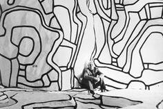 Jean Dubuffet in his Jardin d'hiver in Paris, 1970