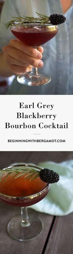 This cocktail is rich, warm and fruity. It's the perfect tea cocktail to drink as summer turns into fall. Just combine Earl Grey tea, bourbon whiskey, blackberry, simple syrup and garnish with rosemary // Earl Grey Blackberry Bourbon Cocktail // Tea Cocktails, Bourbon Cocktails, Bourbon Whiskey, Cocktail Recipes, Drink Recipes, Scotch Whiskey, Aquavit Cocktails, Irish Whiskey, Fancy Drinks