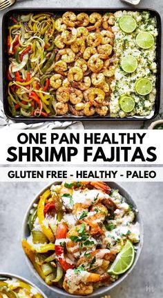 This one pan recipe for healthy shrimp fajitas is made with cauliflower rice, bell peppers and fresh shrimp. Top it off with a creamy ranch dressing and serve it all week for meal prep. It is also low…  More
