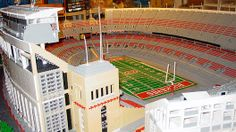 Did you ever want to look at a college's field without going to the university. This is the Ohio State University Stadium done in Lego.
