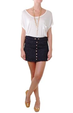 I love this perfect, fall skirt!