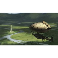 My book, The Camelot Kids, has a zeppelin called Excalibur II, so I was delighted to see an image that looked just like it!   Fredrik Andersson - Steampunk airship ❤ liked on Polyvore