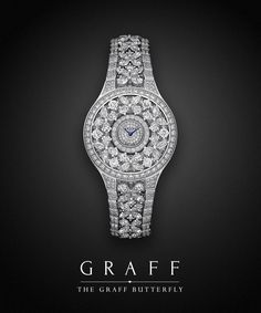 A signature style for ladies from Graff Luxury Watches, the Graff Butterfly watch is inspired by the delicate symmetry of the butterfly.