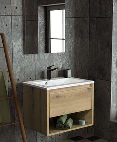 #badmöbel #badezimmer Vanity, Bathroom, Cubby Hole Storage, Interior Home Decoration, Set Of Drawers, Oak Tree, Decorating Ideas, Full Bath, Bathing