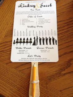 Silhouette Wedding Program Fan from Pinterest