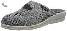 Fischer  Dora, chaussons d'intérieur femme - Argent - Silber (metall), 36 - Chaussures fischer (*Partner-Link)