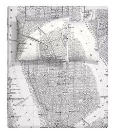 Vintage Manhattan map duvet set from H  Home!!! Just what I've been looking for.