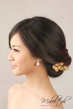 Chinese Modern Not Applicable Hair Stylist Classy Bridal Hairstyle 48846 . this sort of side twist with a little ornament is popular.