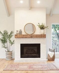 86 Unique Modern Living Room With Mirror Ideas for Your Home #modernlivingroom #mirrorlivingroom #livingroomideas ~ aacmm.com Living Room Remodel, Home Living Room, Living Room Designs, Living Room Decor, Living Room Mantle, Living Spaces, Living Area, Home Fireplace, Fireplace Design