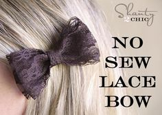 DIY No Sew Lace Bow DIY Hair Clips DIY Crafts