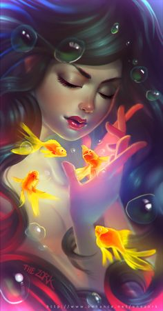golden fishes by Nestor David Marinero Cervano