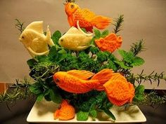 fruit and veggie carving