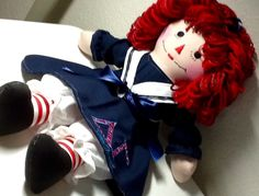Delta Gamma Sailor Outfit Raggedy Ann 20 Inch doll handmade - ready to ship - pinned by pin4etsy.com