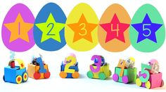 Train Surprise Eggs Lean the Numbers Let's Open Some Egg Suprise