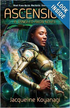 Alana Quick is the best damned sky surgeon in Heliodor City, but repairing starship engines barely pays the bills. When the desperate crew of a cargo vessel stops by her shipyard looking for her spiritually-advanced sister Nova, Alana stows away. Maybe her boldness will land her a long-term gig on the crew. But the Tangled Axon proves to be more than star-watching and plasma coils. The chief engineer thinks he's a wolf. The pilot fades in and out of existence, etc. An out of the ordinary…