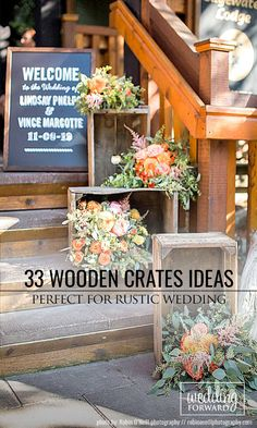 33 Rustic Wooden Crates Wedding Ideas ❤ See more: http://www.weddingforward.com/wooden-crates-wedding-ideas/ #weddings #rustic #bridaldecorations #rusticdecor #woodencratesweddingideas