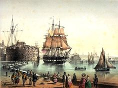 """""""Le Havre, Paquebot de l'Union Line appareillant"""", Louis Le Breton"""