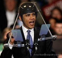 The Obama portable teleprompter...