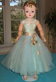 1956 Madame Alexander Cissy Doll in Rare Blue #2025 Fancy Blonde Hair | eBay