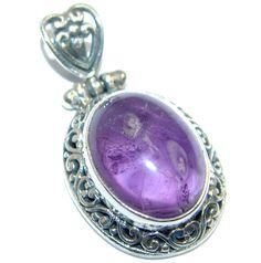 $38.50 Petite+Purple+Amethyst+Sterling+Silver+Pendant at www.SilverRushStyle.com #pendant #handmade #jewelry #silver #amethyst