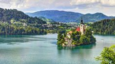 lake bled slovenia stravinsky church hd wallpapers download