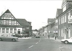 Die Alte Post hat sich kaum verändert. Die Sachsenrast wurde in den 70ern abgerissen (Bild: Aloys Pohlmann)