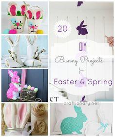 Make Easter bunny for Spring (20 DIY Ideas) - Craftionary