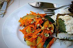 Miruna w szpinaku i mięcie #intermarche #konkurs #fontignac #miruna #szpinak #mięta Ratatouille, Ethnic Recipes, Food, Meal, Essen, Hoods, Meals, Eten