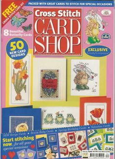 Cross Stitch Card Shop Magazine Issue 34 Frogs Butterflies Valentines Flowers for sale online Cross Stitch Tree, Cross Stitch Books, Cross Stitch Cards, Cross Stitch Flowers, Cross Stitch Kits, Cross Stitching, Paper Crafts Magazine, Flowers For Sale, Cross Stitch Magazines