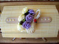 Drewniany wóz z patyczków (diy home decor)