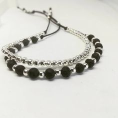 🖤...Love black.. 🖤 . . #semipreciousstones #silverplated #beads #beadedjewelry #beaded #creativity #artistoninstagram #black #black_is_love #silver #blackandsilver #minimaljewelry #mixandmatch #mix_and_match #lavastone #natural_stones #adjustable_bracelet #adjustablering #layeringjewelry #love_my_job #lovemyjob #madeingreece #madewithlove #picoftheday #instajewelry #jewellerydesigner #greekdesigners #jewelleryartist #jewelleryofinstagram #ilene_handcrafted_creations Unique Bracelets, Handmade Bracelets, Layered Jewelry, Minimal Jewelry, Adjustable Bracelet, Natural Stones, Silver Plate, Beaded Jewelry, Creativity