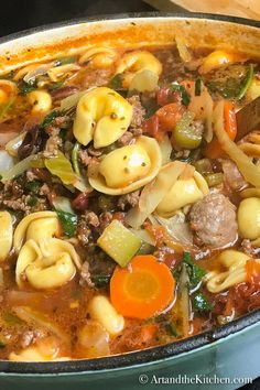 Hearty Tortellini Soup | Art and the Kitchen
