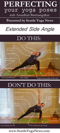 Are you looking to perfect your Extended Side Angle yoga pose (Parsvakonasana)? Follow this visual guide to ensure you are doing this yoga pose just right.