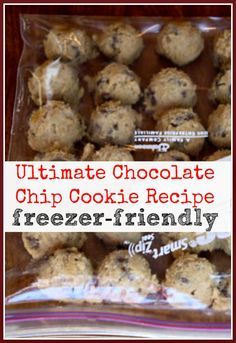 chocolate chip cookie dough The Master Chocolate Chip Cookie Recipe {I finally found it} Plus this recipe can be frozen for a quick single cookie anytime you want one. Freezer Cookie Dough, Freezer Cookies, Cookie Desserts, Cookie Recipes, Snack Recipes, Easy Freezer Meals, Freezer Recipes, Freezer Desserts, Chicolate Chip Cookies