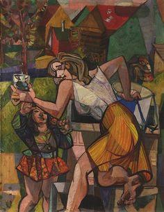 Pravoslav Kotík (Czech, At the Well (U studny), 1948 - 1952 OIl on canvas, x Cubism Art, Oil On Canvas, Original Artwork, Auction, Artist, Painting, Artists, Painting Art, Paintings