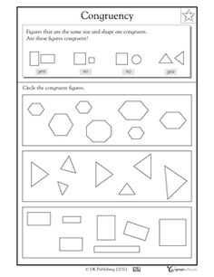 Worksheets Similar Shapes Worksheet Grade 4 coloring homework folders and my children on pinterest congruent shapes