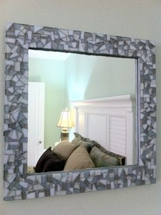 Mosaic Wall Mirror Square Mosaic Mirror by GreenStreetMosaics