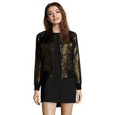 Veste noir et coloris doré