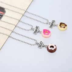 Bff Bracelets, Bff Necklaces, Best Friend Necklaces, Best Friend Jewelry, Kawaii Jewelry, Cute Jewelry, Bestie Gifts, Best Friend Outfits, Accesorios Casual