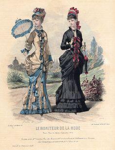 """LE MONITEUR DE LA MODE - # 2229 "". Hand-Colored Engraving - 1877. CONSIDER GOING BACK & BUYING MORE PRINTS. | eBay!"
