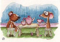Tea time with Teddy