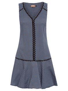 Vestido Sianinha Estampa Mini Poá - Maria Filó - Azul - Shop2gether