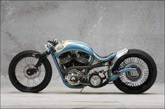 custom blue bike