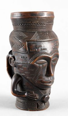 Africa | Cup from the Kuba people of DR Congo | Wood