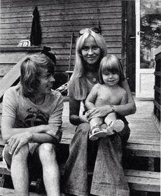 Björn Ulvaeus, Agnetha Fältskog and daughter Linda.